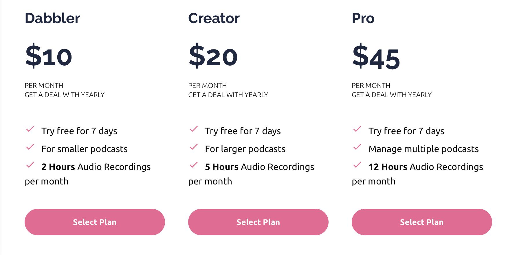 squadcast pricing