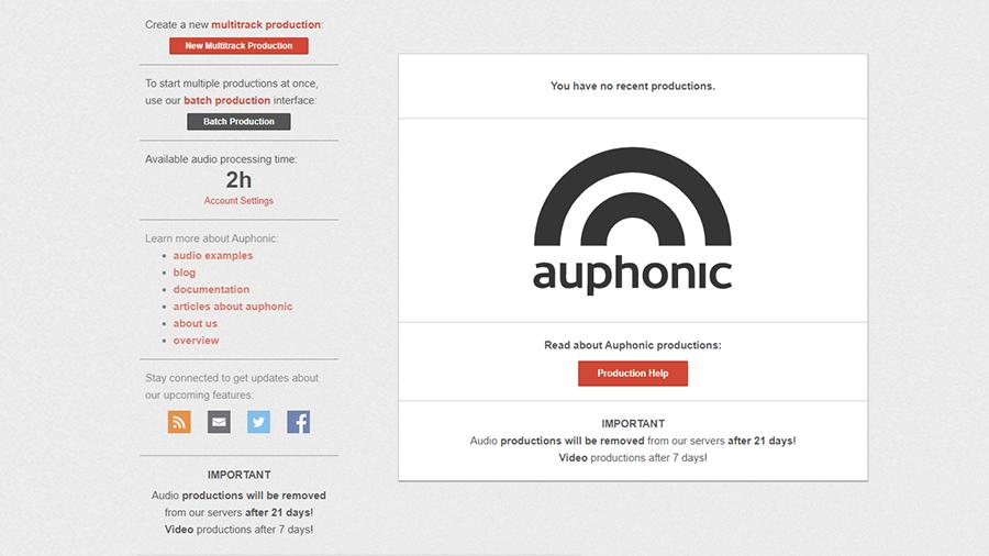 auphonic single podcasting