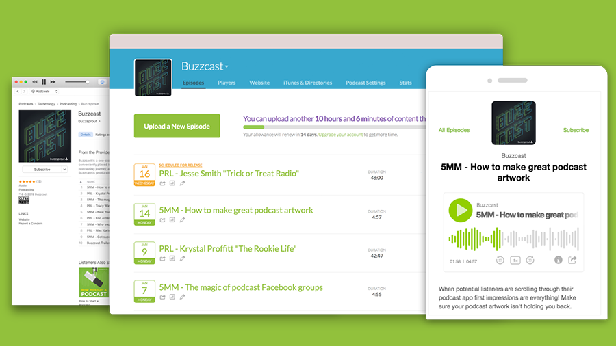 buzzsprout hosting single