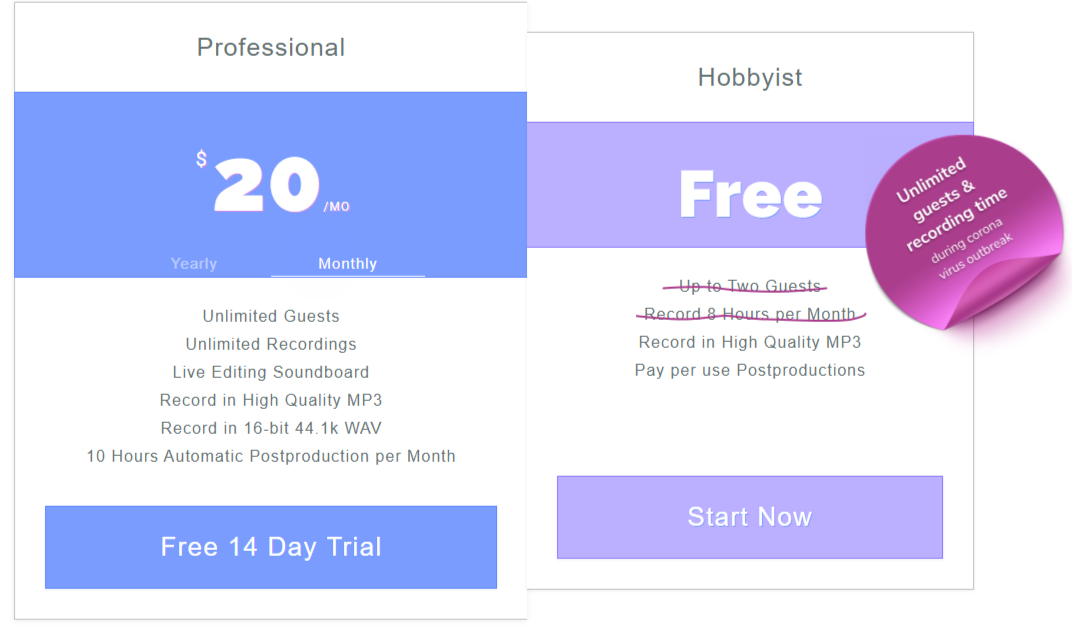 zencastr pricing