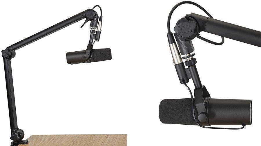 mic desk boom arm stand
