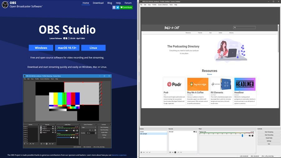 obs recording live streaming