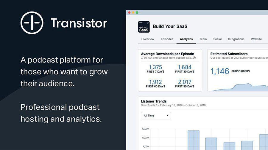 transistor fm podcast hosting platform