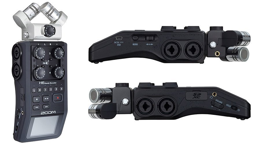 zoom h6 portable podcast recorder