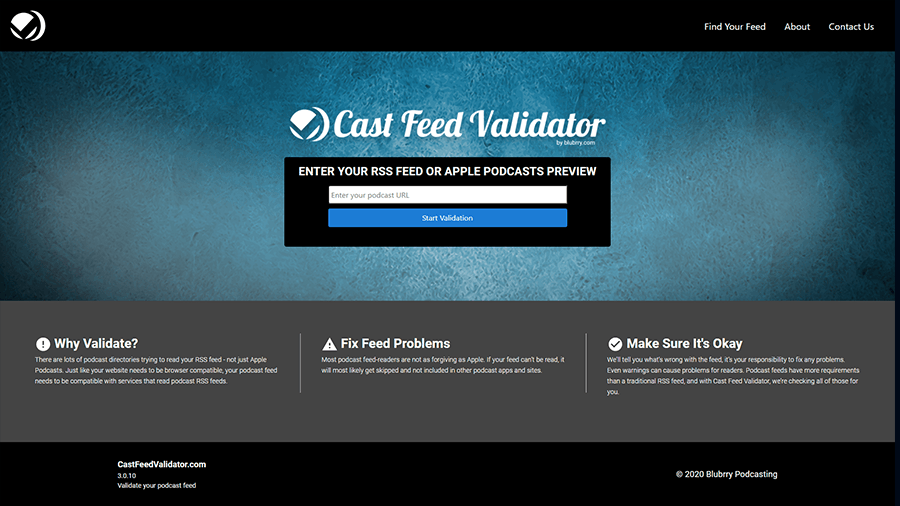 podcast rss feed validator
