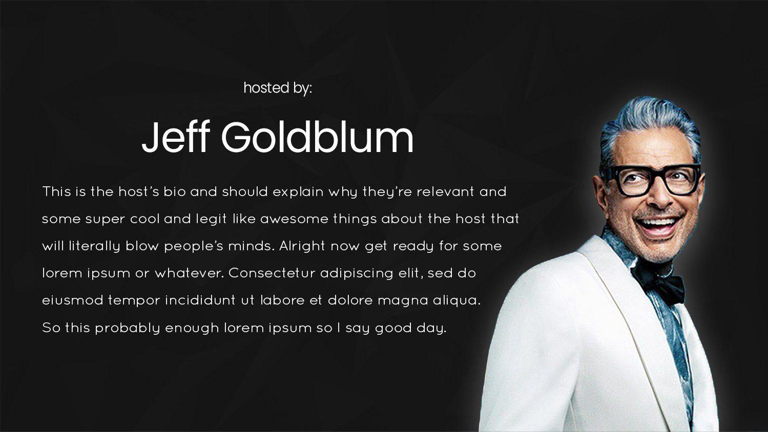 podcasting pitch deck host bio